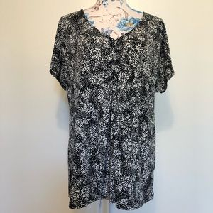 George black and white speckled polka dot shirt XL